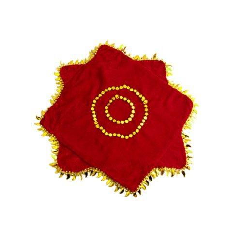 DealMux Octagon geformte Blätter Hem Dekor-Tanz-Tanzen Handkerchief 2 Stück Red - Tanz-dekor