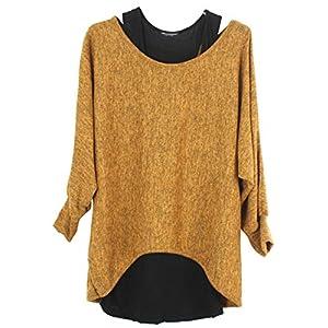 Emma & Giovanni - Damen Langarmshirt/Pullover (2 Stück) (XL, Ocker)