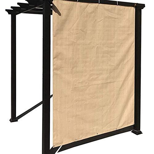 GDMING-Sichtschutznetz Sonnensegel Pavillon Im Freien Schattenschutz Sonnencreme Atmungsaktiv Wasserdicht Verschleißfest Polyester, 10 Größen, 2 Farben (Farbe : Yellow2.3x4m)