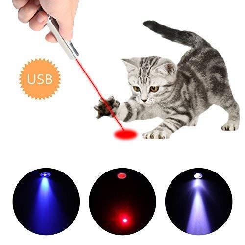 M JJYPET LED Pointer für Katzen Spielzeug Haustier Katze interaktive Spielzeug mit USB Kabel