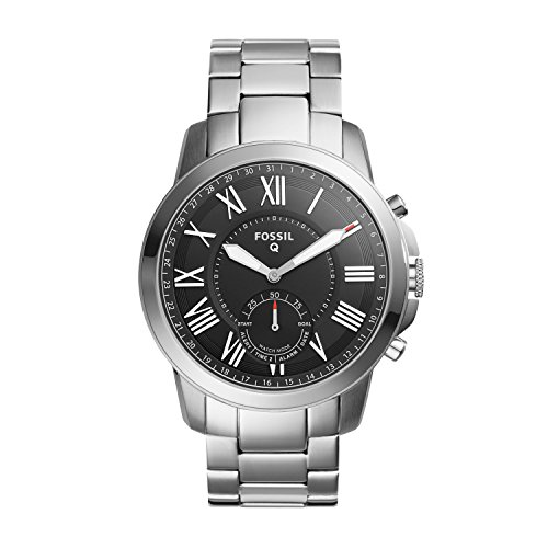 Fossil Herren Analog Quarz Uhr mit Edelstahl Armband FTW1158