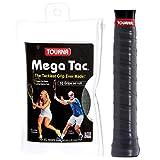 Tourna Mega Tac Extra Tacky Overgrip, Zwart, 10-Pack