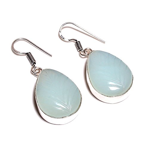 indie-artesanos-natural-aqua-azul-calcedonia-gemstone-hecho-a-mano-925-overlay-de-plata-pendientes