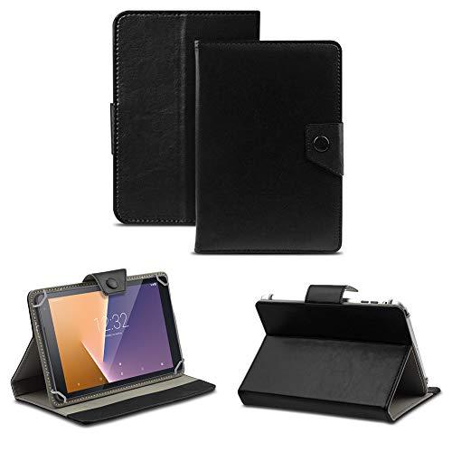 NAUC Tablet Tasche kompatibel für Vodafone Tab Prime 6/7 Schutzhülle Hülle Case Schutz Cover, Farben:Schwarz