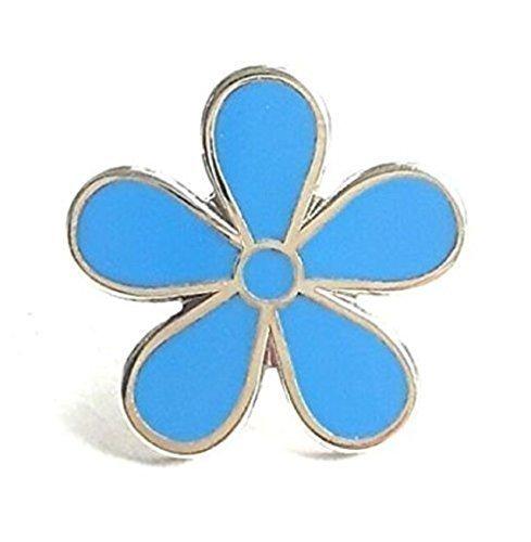 Emblems-Gifts Vergissmeinnicht Blumen Alzheimer's Bewusstsein EMAILLE ANSTECKER 15mm
