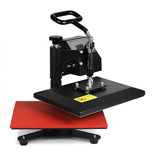 Lartuer Transferpresse Textilpresse T Shirtpresse Heat Press Machine 24X30cm mit Elektronische Zeitregelung und Temperaturüberwachung (24X30cm) - 2