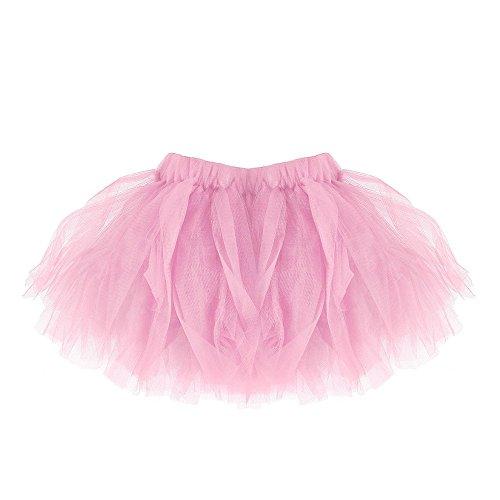 Fee Tutu Baby Kostüm - Ulanda Baby Mädchen Tüllrock Tutu Ballettrock Faltenrock, Modern Ballett Verkleiden Fee Tutu Rock Schick Party-Rock Classic 0-24 Monate - One Size (Rosa)