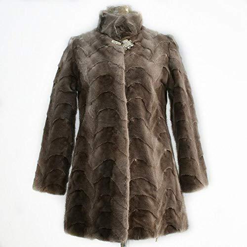 ZYJANO Warmer Mantel,Mantel Damen Jacke Mode warm licht europäischen high Street Damen edle wunderschöne Herbst 7