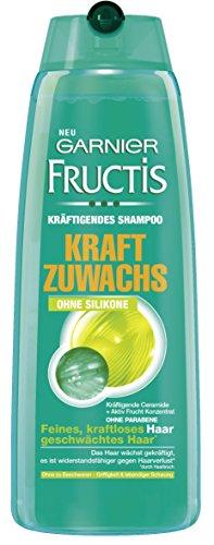 Garnier Fructis Shampoo Kraftzuwachs Sensitiv, Kräftigendes Haarshampoo, 3er Pack 250 ml