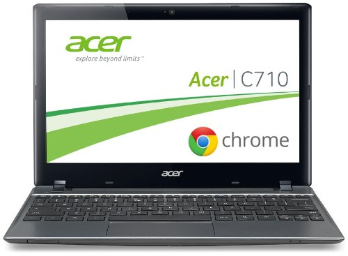 Preisvergleich Produktbild Acer C710 29, 4 cm (11, 6 Zoll) Chromebook (Intel Celeron 847,  1, 1GHz,  2GB RAM,  320GB HDD,  Intel HD,  Chrome) grau