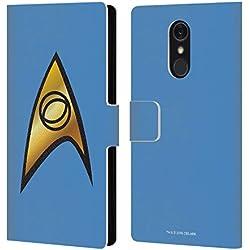 Head Case Designs Officiel Star Trek Solo de Sciences Uniformes Et Badges TOS Coque en Cuir à Portefeuille Compatible avec LG Q Stylus/Q Stylo 4