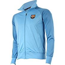 Chaqueta del Barça para hombre, con cremallera, Colección oficial FC Barcelona, talla de adulto, Hombre, azul, S