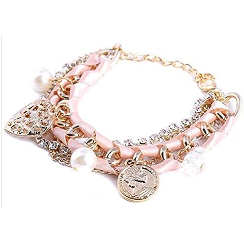 MULTICAPA SaySure - cuentas elástico tela pulseras encanto corazón 61 H 32