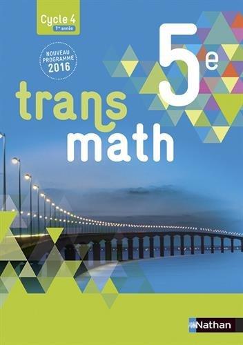 Transmath 5e - Format compact - Nouveau programme 2016 by Anne Jorioz (2016-08-05)