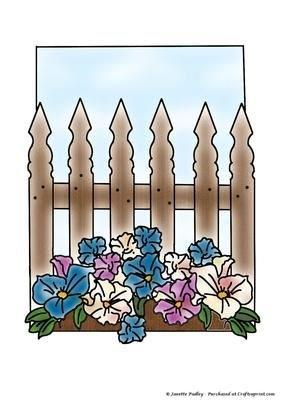 Floreale colorato Janette Padley da recinzione