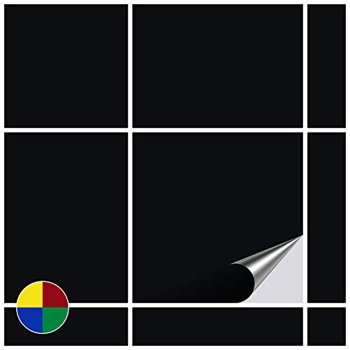 FoLIESEN Fliesenaufkleber für Bad und Küche - 20x20 cm - schwarz matt - 60 Fliesensticker für Wandfliesen (Schwarz-vinyl-fliesen)