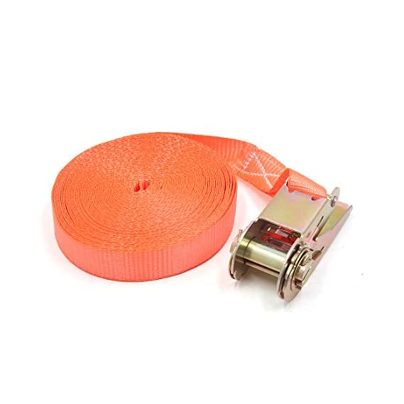 Generic 25mm x 10m Orange Polyester Ratchet Tie Down Cargo Straps for Car Vehicle