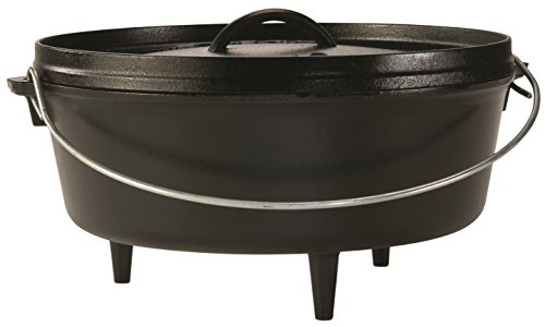 Lodge 30.48 cm/5.68 litre/6 quart Pre-Seasoned Cast Iron Outdoor/Camp Dutch Oven