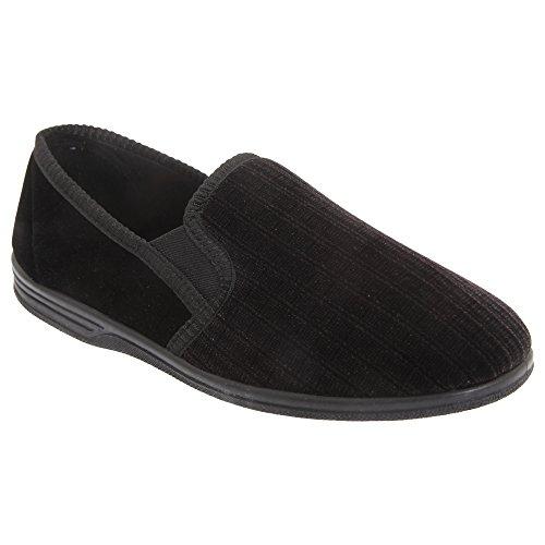 Zedzzz - Zapatillas de estar por casa para hombre, color negro, talla 48