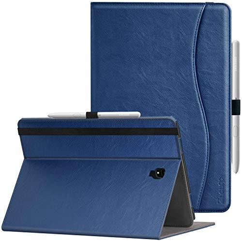 Ztotop Coque Samsung Galaxy Tab S4 10.5, Housse Coque Étui en Cuir avec Support et Poche,Protège Samsung Tablette S4 10,5 Pouce SM T830 (Wi-FI) /SM T835 (4GLTE) 2018,Sommeil/Reveil Auto,Bleu Marine