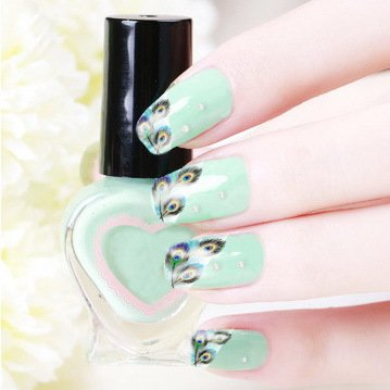 Stickers Pour Ongles Plume - XF1317 Nail Sticker Tattoo - FashionLife