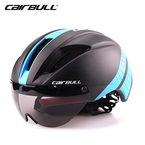 stageonline cairbull adulto casco bici sicurezz cascos da ciclismo leggero caschi di mtb insetti-protettivo per regolabile taglia 54-58cm, 300g ultra-light con goggle