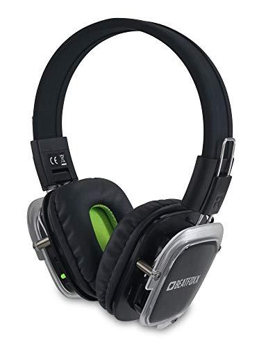 Beatfoxx SDH-300 Neonbright Silent Disco Kopfhörer (Stereo Funk-Kopfhörer, Erweiterung von Silent Disco Sets, Kanal LED-Beleuchtung, Tragekomfort, über 10 Stunden Akkulaufzeit) (Funk-kopfhörer Lithium - -)