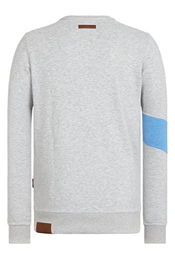 Naketano Male Sweatshirt Verdammte Order 66 II Grey-Light Blue Melange