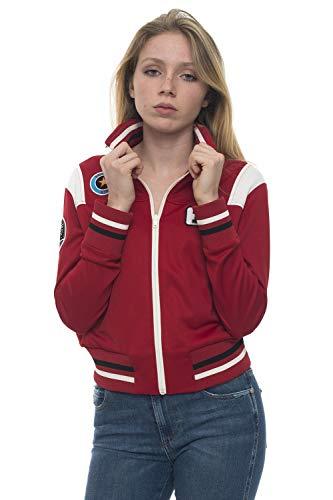 Red Valentino Sweatshirt Zip Rot Polyester Damen, Rot X-Large