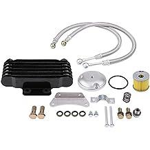KIMISS Enfriador de Aceite - Enfriador de Aceite del Motor de la Motocicleta, Kits de