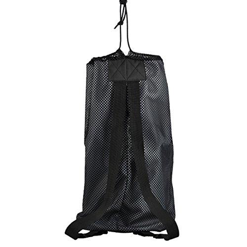 WINOMO Sport Ball Tasche Drawstring Mesh Rucksack Ball Halter Tasche für Basketball Fußball Volleyball (schwarz)