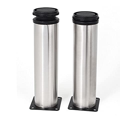 sourcingmap® Stainless Steel Adjustable Furniture Cabinet Leg 200mm Height 2pcs