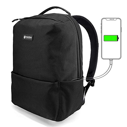tomtoc Laptop Rucksack für Business Arbeit Schulrucksack für Jungen mit Anti-Diebstahl Tasche und Laptopfach geeignet für bis zu 15,6