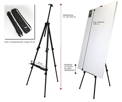 RIO XL Alustaffelei für Keilrahmen bis 150 cm - robuste Profi-Qualität in XL-Größe – Höhe...