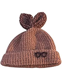 Yeahibaby Sombrero de invierno para niñas Gorro de punto cálido Gorro de  ganchillo infantil Gorro para 1fe50957b62
