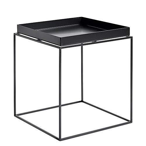 Tray Table - Mesa Auxiliar negro/40x40x44cm: Amazon.es: Hogar