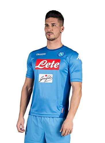 2017 18 SSC Napoli Stadium Home jersey Light blue 17 18 Naples Kappa XXL 94fe3bc9b9abf