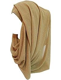 4c8ddebb3002 Lina   Lily Écharpe Hijab pour Femme Musulmane en Briller Or Glitters
