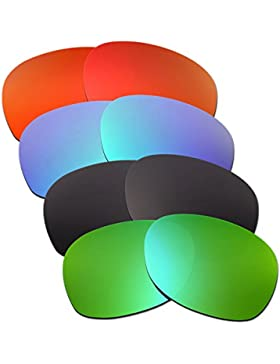 Hkuco Plus Mens Replacement Lenses For Ray-Ban Wayfarer RB2132 55mm Red/Blue/Black/Emerald Green Sunglasses