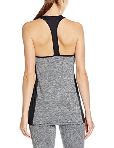 Intimuse Damen Yoga Tank Top, Sport Shirt Donna Grigio (Grau Melange 026)