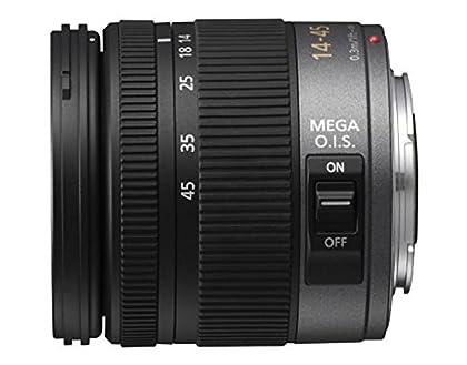 Panasonic H-FS014045E - Objetivo para micro cuatro tercios (distancia focal 14-45 mm, apertura f/3.5, estabilizador óptico, diámetro: 52 mm), negro