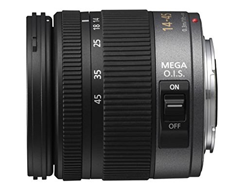 Panasonic H-FS014045E Standardzoom-Objektiv Lumix G F3,5-5,6/ 14-45 mm (52 mm Filtergewinde, bildstabilisiert) schwarz