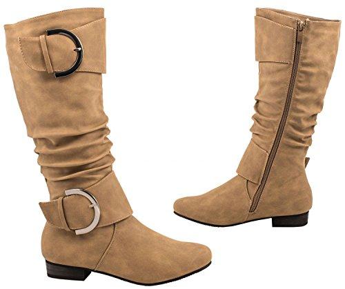 Elara, Stivali donna kaki cachi 36 cachi