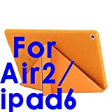 Schutzhülle für iPad Air 2 / Air 1, 5 Formen, Standfunktion, ultradünn, aus PU-Leder mit Silikon-Silikon, automatische Schlaf- / Weckfunktion
