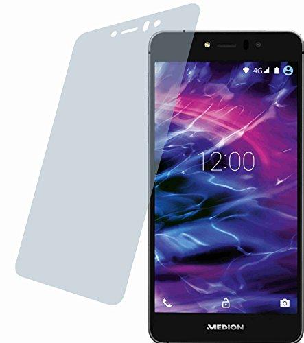 4ProTec Medion Life X5020 (2 Stück) Premium Bildschirmschutzfolie Displayschutzfolie kristallklar Schutzhülle Bildschirmschutz Bildschirmfolie Folie