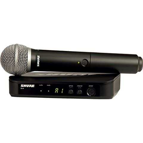 Shure BLX24E/PG58 micrófono inalámbrico profesional para voz, altavoz, karaoke