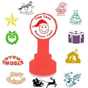 Weihnachten Karte/Umschlag/Label personalisierbar Stempel–20mm \'Xclamations Stempel. Ein festlicher Nachricht und Design einfach. Einfach E-Mail Ihr Design.