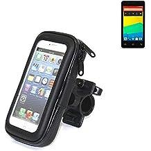 Montaje de la bici para BQ Readers Aquaris E4.5, montaje del manillar para smartphones / teléfonos móviles, de aplicación universal. Conveniente para la bicicleta, motocicleta, quad, moto, etc. repelente al agua, a prueba de salpicaduras a prueba de lluvia, sostenedor del teléfono móvil de la bicicleta. | Bastidores de bicicletas Bikeholder bicicletas Navi titular titular GPS Pannier BQ Readers Aquaris E4.5 manillar montar la caja al aire libre