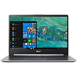 """Acer Swift 1 SF114-32-P56T Notebook da 14"""", Processore Intel Pentium Silver N5000, Ram 4 GB, 128 GB SSD, Display FHD Acer ComfyView IPS LED LCD, Windows 10 Home, Silver"""