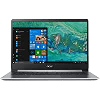 "Acer Swift 1 SF114-32-P56T Notebook con Processore Intel Pentium Silver N5000, Ram da 4 GB, 128 GB SSD, Display 14"" FHD IPS LED LCD, Scheda grafica UHD 605, Windows 10 Home, Silver Tastiera IT"